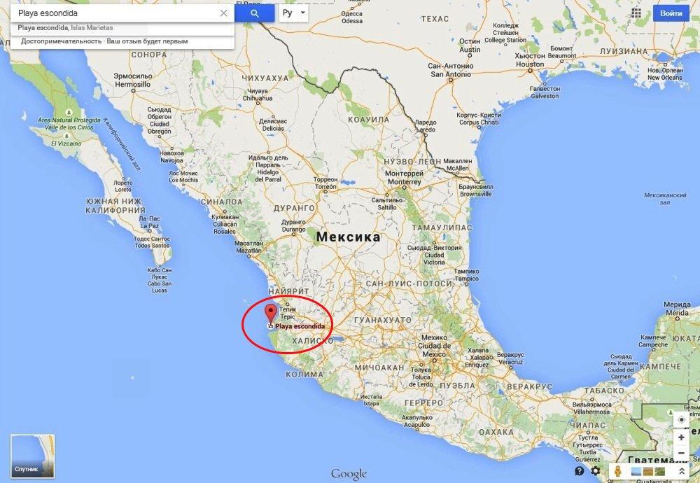 Скрытый пляж на островах Мариета (Мексика